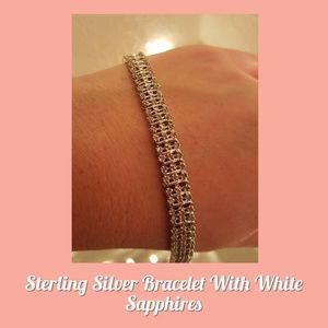 Jewelry - 🆕️Sterling Silver & White Sapphire  Bracelet